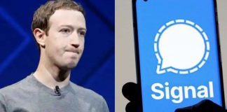 Mark Zuckerberg using signal facebook data leaked with 553 millions others