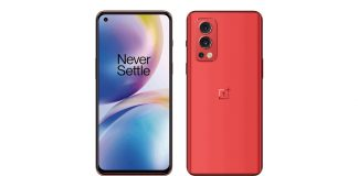 oneplus-nord-2-red-colour-render-leaked-design-reveal-ahead-of-launch