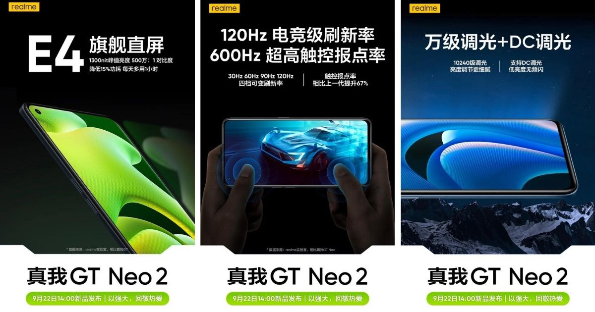 Realme GT Neo 2 Amoled Punch Hole Display